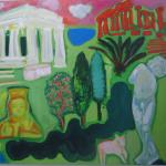 Gods and Goddesses<br />2011 <br />oil on linen <br />137 x 147 cm