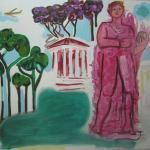 She amongst them dauntless stood <br />2011 <br />oil on linen<br />137 x 147 cm