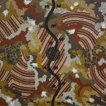 Clifford Possum<br />Carpet Snake Dreaming 1992<br />Acrylic on canvas,<br />126 x 201cm
