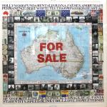 Max Pam<br />Map of Australia - Selling our Authenticity    <br />2004<br />Silver Gelatine photos <br />and mixed media on board